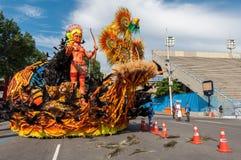 Samba School Vehicle i Rio de Janeiro fotografering för bildbyråer