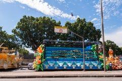 Samba School Vehicle in Rio de Janeiro lizenzfreies stockfoto