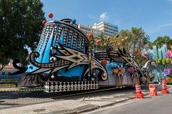 Samba School Vehicle in Rio de Janeiro stockfotos