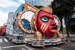 Samba School Vehicle in Rio de Janeiro lizenzfreie stockbilder