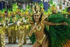 Samba Schools-parade - Carnaval 2018 stock foto's