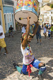 Samba street performer Stock Photo