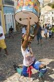 Samba street performer Stock Photo