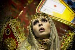 Samba tancerz przy karnawałem fotografia stock