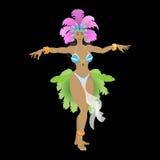 Samba tancerz w karnawałowym kostiumu Obraz Royalty Free