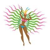 Samba tancerza dziewczyny ikony wektoru ilustracja Zdjęcie Stock
