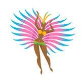 Samba tancerza dziewczyny ikony wektoru ilustracja Obrazy Stock