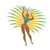 Samba tancerza dziewczyny ikony wektoru ilustracja Obraz Royalty Free