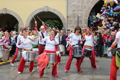 Samba tancerze w Coburg obraz stock
