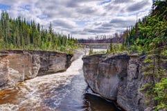 Sambaa Deh Falls on Trout River Stock Image