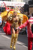 Sambadans in Caraïbische parade in Londen Royalty-vrije Stock Foto