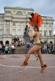 Sambadansare royaltyfri fotografi
