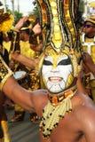 Sambadansare i en fiesta i Cartagena, Colombia Royaltyfria Bilder