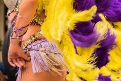 Sambadanser op de straat Stock Fotografie