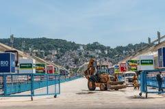 Sambadrome in Rio de Janeiro, Brasile Fotografia Stock