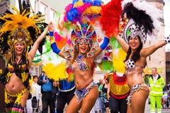 Sambakarneval in Kammgarn-stoff 5 Lizenzfreie Stockfotografie