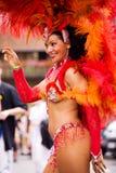 Sambakarneval in Kammgarn-stoff Stockbilder