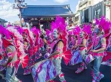 Sambakarneval Tokyos Asakusa stockbilder
