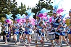 Sambakarnevaldansare Fotografering för Bildbyråer