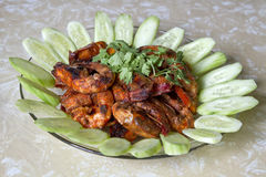 Sambal Chili Prawns 2 Royalty Free Stock Images