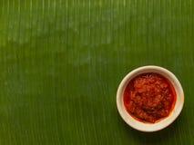 Sambal chili sauce Royalty Free Stock Photo
