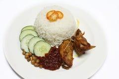 Sambal del lemak di Nasi con il pollo Immagine Stock Libera da Diritti