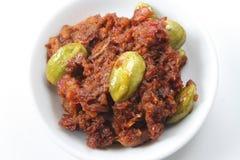 Sambal Petai Malaysian Cuisine Royalty Free Stock Image