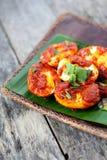 Sambal Telur - malajiska traditionell kokkonst Royaltyfria Bilder