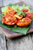 Sambal Telur - malajiska traditionell kokkonst Royaltyfri Fotografi