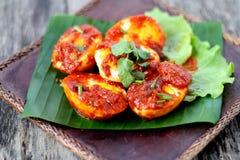 Sambal Telur - Malay traditional cuisine Stock Photography