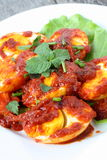 Sambal Telur - Malay traditional cuisine Royalty Free Stock Photo