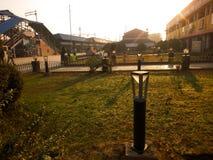Sambalpur railway station. Morning view of platform , structures and Sambalpur train station Royalty Free Stock Photography