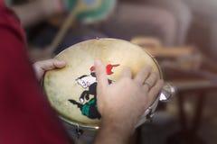 Samban är delen av Carioca kultur och en av den traditionellaste staden av sambacirklar royaltyfria bilder