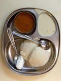 Sambar de Idli - culinária sul da Índia (culinária de Udupi) fotografia de stock
