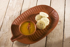 Sambar with Idli Stock Photos