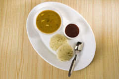 Sambar with Idli Stock Photography