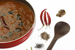 Sambar - Spicy Lentils from South India. Royalty Free Stock Image