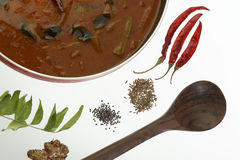 Sambar - Spicy Lentils from South India. Royalty Free Stock Photography