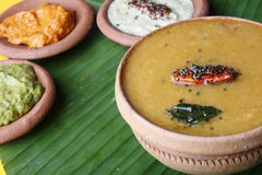 Sambar is a traditional curry from South India Royalty Free Stock Images