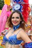 Sambatänzer in peruanischem carnaval Lizenzfreie Stockfotografie