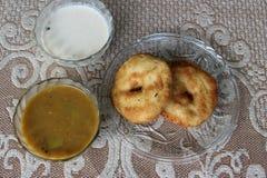 Sambhar Vada. South Indian Food Sambhar, Vada and Coconut chutney Royalty Free Stock Photos