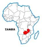 Sambia-Afrika-Karte vektor abbildung