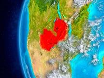 Sambia auf Erde vom Raum Lizenzfreies Stockfoto