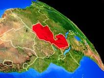 Sambia auf Planet Erde stock abbildung