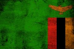 Sambia rostig und Schmutzflaggenillustration stock abbildung