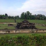 Sambisari寺庙印度尼西亚 免版税库存照片