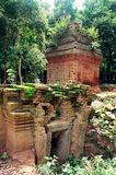 SAMBO PREI KUH  temples world heritage capital of Chenla located in Kampong thom province cambodia. Sambo Preh Kuh was once the capital of Chenla Royalty Free Stock Photos
