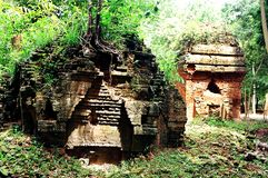 SAMBO PREI KUH  temples world heritage capital of Chenla located in Kampong thom province cambodia. Sambo Preh Kuh was once the capital of Chenla Stock Photo