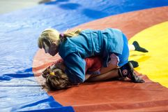 Sambo or Self-defense without weapons. Competitions girls Stock Images