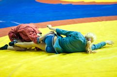 Sambo or Self-defense without weapons. Competitions girls Royalty Free Stock Images